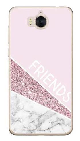 Etui Dla Przyjaciół Friends Glitter Różowy Na Huawei Y6 2017 Etui Z Nadrukiem Huawei Y6 2017 Huawei Y6 2017 29 90 Zł