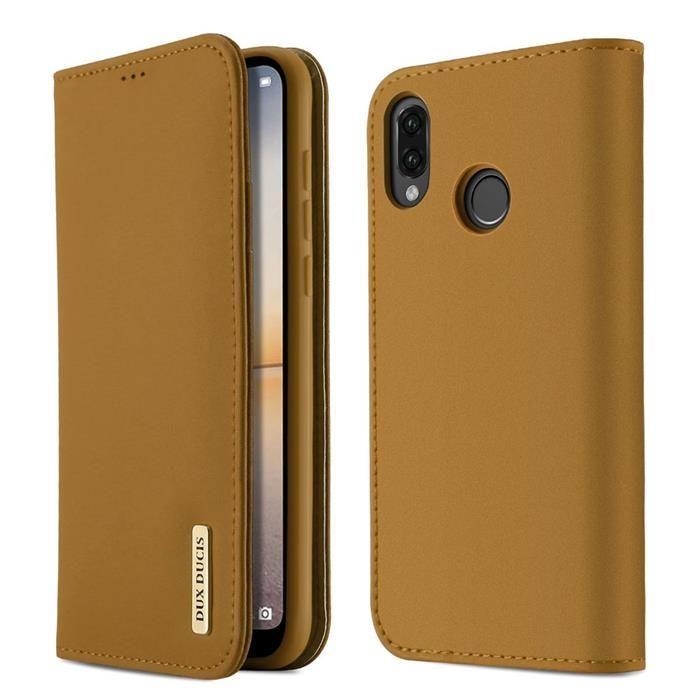 7c28ad153b28f DUX DUCIS Wish skórzane etui pokrowiec z klapką Huawei P20 Lite brązowy ...