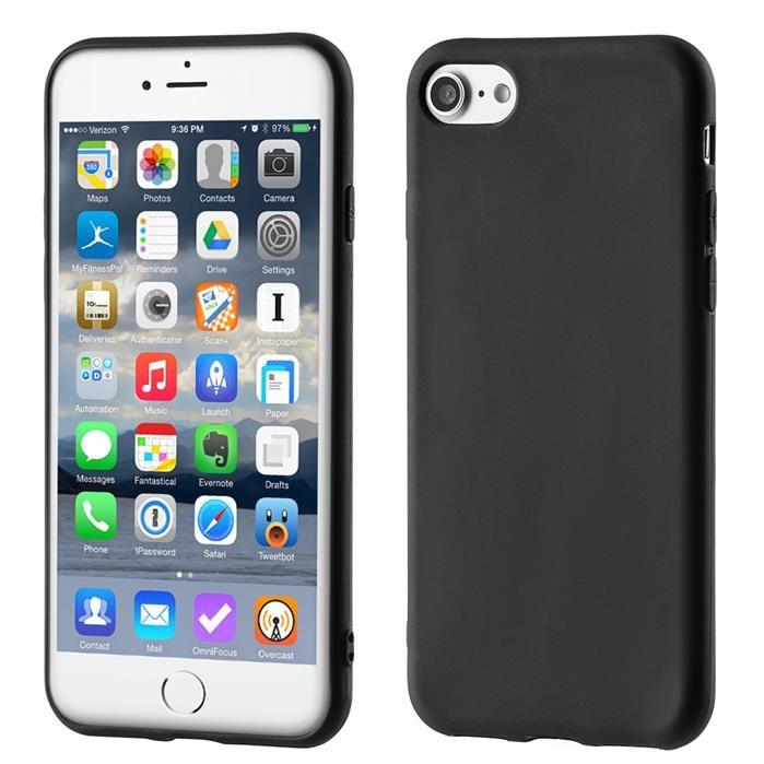 Inteligentny Żelowy pokrowiec etui Soft Matt iPhone 6S 6 czarny | Etui inne QU75
